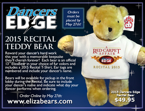 Dancers Edge Recital 2015 Teddy Bear